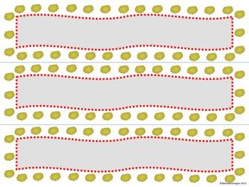 Popcorn Border and Name Plates