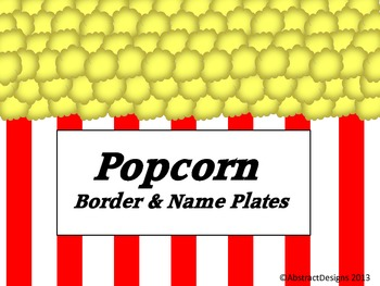 Popcorn Border and Name Plates