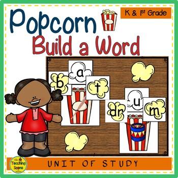 Popcorn  Build a Word Phonics Center
