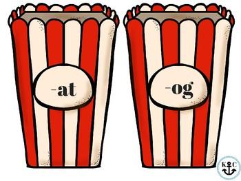 Popcorn CVC & CVCC Word Families