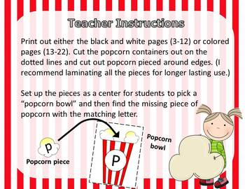 Popcorn Capital and Lowercase Letter Match