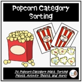 Popcorn Category Sorting for Speech Therapy PK-3rd Grade