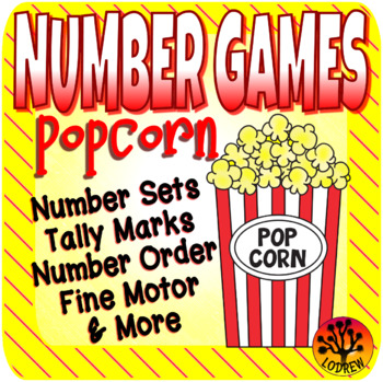 Popcorn Centers Number Games Math Centers Popcorn Activities Counting Food