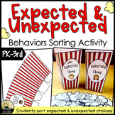 Expected and Unexpected Behaviors Sorting Activity