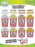 Popcorn Clipart {Zip-A-Dee-Doo-Dah Designs}