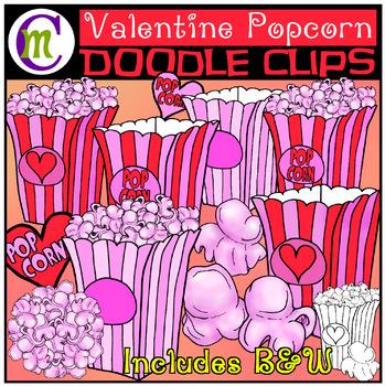 Popcorn Clip Art | Valentine's Day Popcorn Clipart