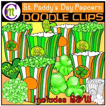Popcorn Clip Art | St. Patrick's Day Popcorn Clipart