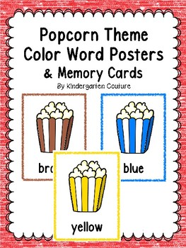 Popcorn Color Posters & Memory Cards