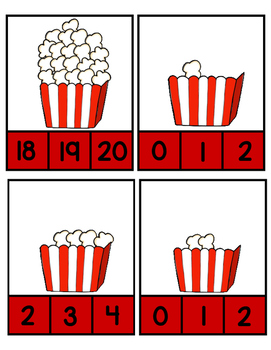 Popcorn~ Count and Clip Cards