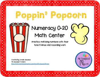 Popcorn Counting 0-20 with 10s Frames