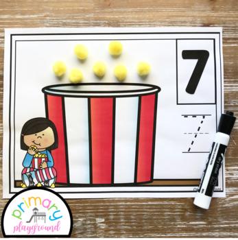 Popcorn Counting Mats 1 - 20