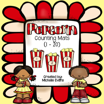 Popcorn Counting Mats (Numbers 1-20)
