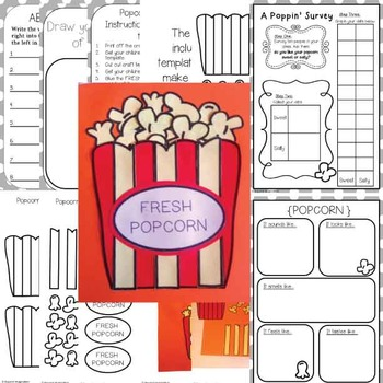 Popcorn Craftivity | Creative Writing Craft for Young Kids