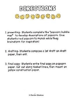 Popcorn Descriptive Writing Packet