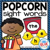 Popcorn Editable Sight Word Activity