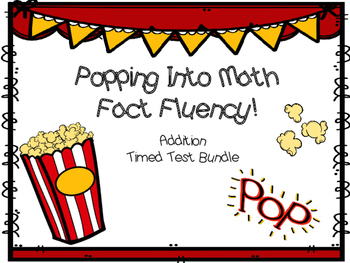 Popcorn Fact Fluency - Addition