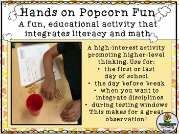 Popcorn Fun: A Hands-On, Integrated Learning Activity - Great for 'down' days!