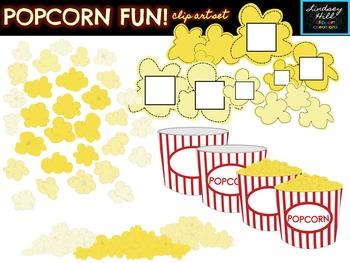 Popcorn Fun! Clip Art Set