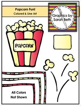 Popcorn Fun - Popcorn Clipart Graphics and Line Art