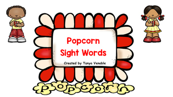 Popcorn Games Bundle!  (Sight words, ABC matching and Counting)