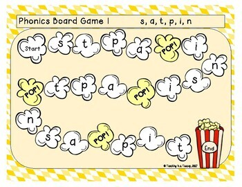 Popcorn Games - Initial Sounds Jolly Phonics
