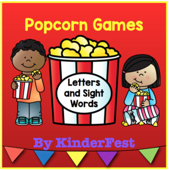 Popcorn Games - Literacy Centers for Letter ID, Beginning