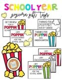 Popcorn Gift Tag: School Year *EDITABLE