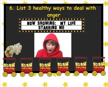 Popcorn Classroom Counseling Review Game PowerPoint Version
