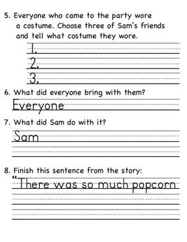 Popcorn Halloween Literature Unit