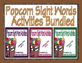 Popcorn High Frequency Words Activities (Literacy First List A, B, and C)