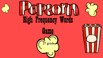 Popcorn High Frequency Words Game