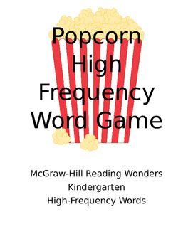Popcorn High Frequency Words - Kindergarten
