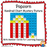 Popcorn Hundred Chart Mystery Pictures with Number Cards