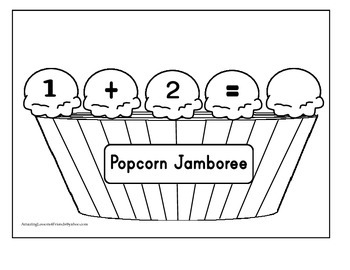 Popcorn Jamboree Adding Math Mats