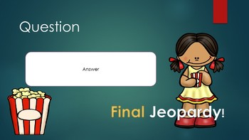 Popcorn Jeopardy PowerPoint Game Template