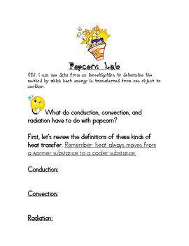 Popcorn Lab: A Heat Transfer Investigation