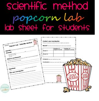 Popcorn Lab - Scientific Method