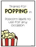 Popcorn Labels