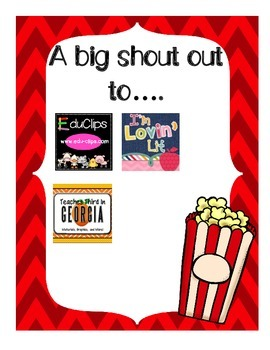 Popcorn Labels Hollywood Classroom Theme