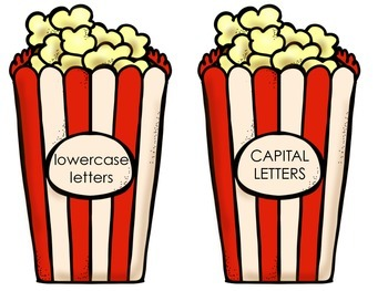 Popcorn Letter Sort-Capital and Lowercase