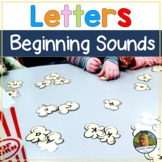 Letter Recognition Beginning Sounds Popcorn Theme Activities
