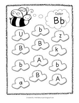 Popcorn Letters - Color the Letters