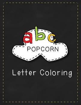 Popcorn Letters - Color the Letters