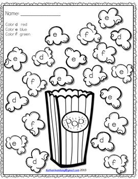 Popcorn Letters Worksheets