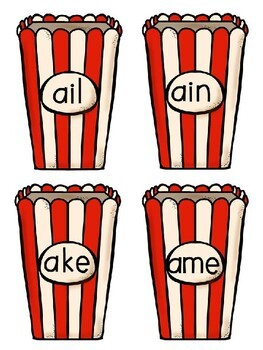 Popcorn Long Vowel Activity