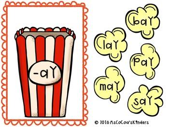 Word Families - Long Vowel (Popcorn)