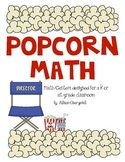Popcorn Math Centers