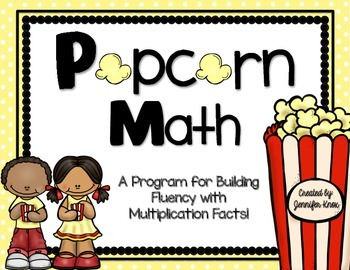 Popcorn Math: Multiplication Fact Fluency