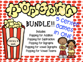 Popcorn Math and Literacy Centers BUNDLE