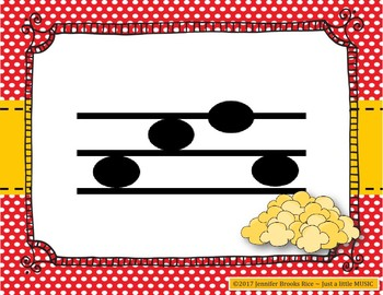 Popcorn Melody Practice - Interactive Melody Game for Notation {sol mi la}